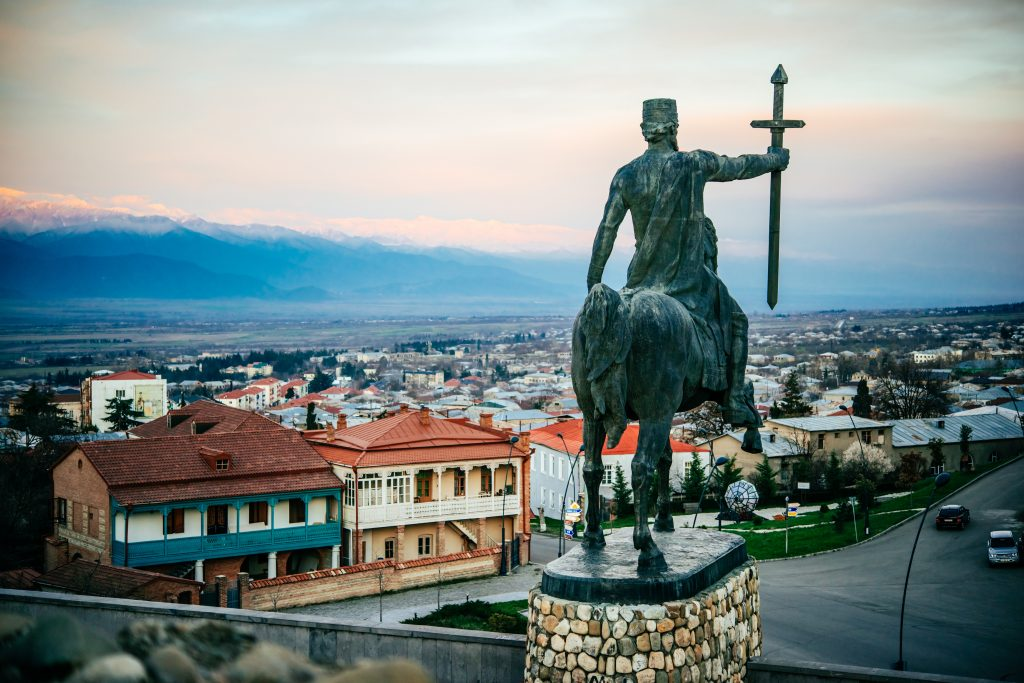 There Is Very Little Mass Tourism And You Can Visit Interesting Cities Without Running Into Hordes.the Monument Dedicated To King Irakli Ii In Telavi.