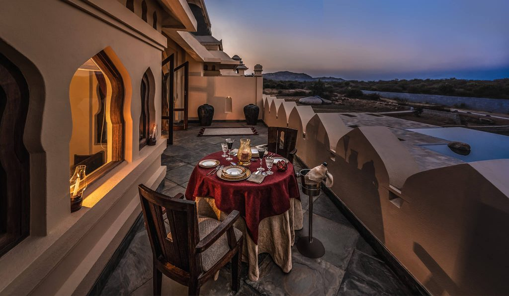 The Terrace Dining Space In The Elegant Nilaya Suite Is Your Very Private Indulgence Zone.