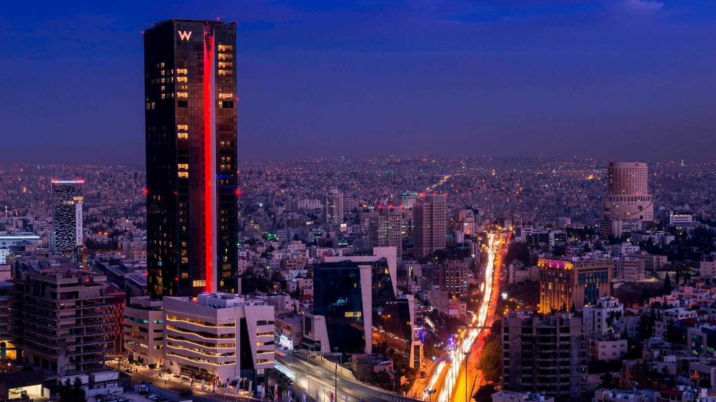 W Amman, Which Is Seeing A Return Of Tourists As Jordan Is Declared Travel Stafe By Wttc.
