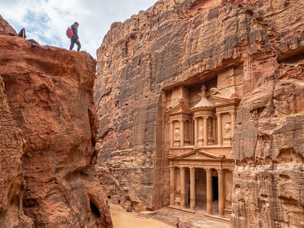Petra Is Also Called The 'rose City' Due To The Colour Of Its Rocks, Which Take On A Red Pink Hue At Sunset And Sunrise.